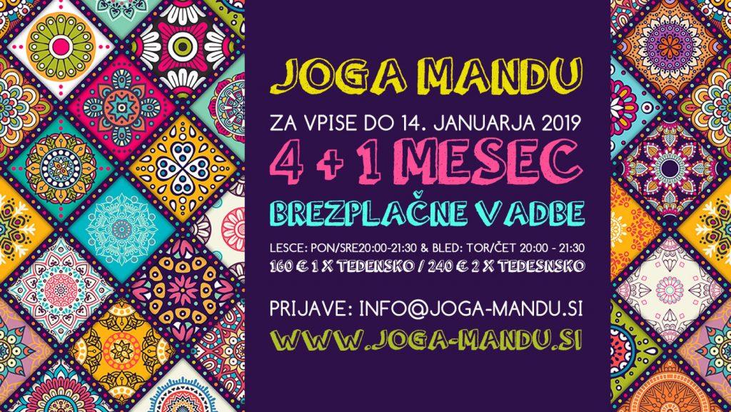 4 + 1 mesec brezplačne joge