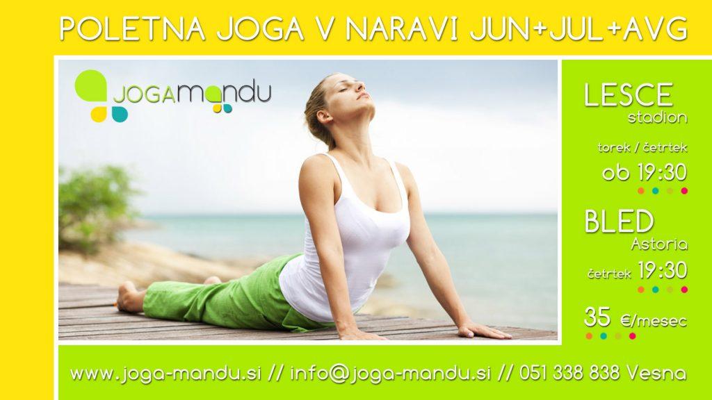 Poletna joga v naravi